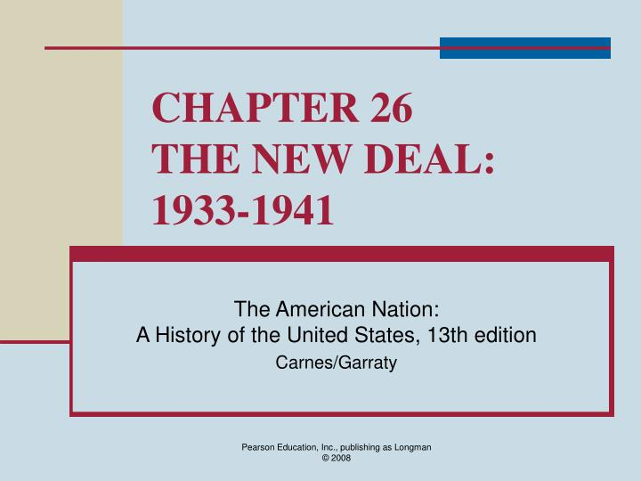 chapter 26 the new deal 1933 1941 n.