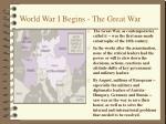 world war i begins the great war6