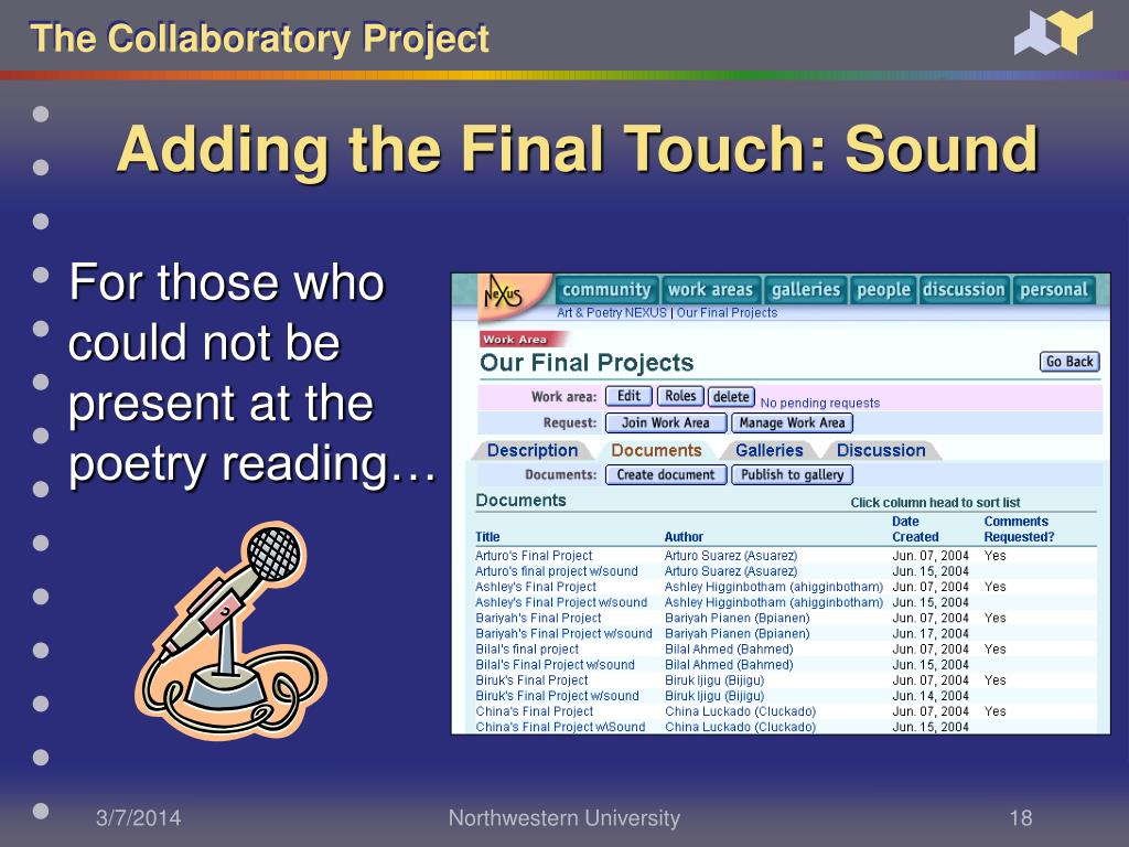 Adding the Final Touch: Sound