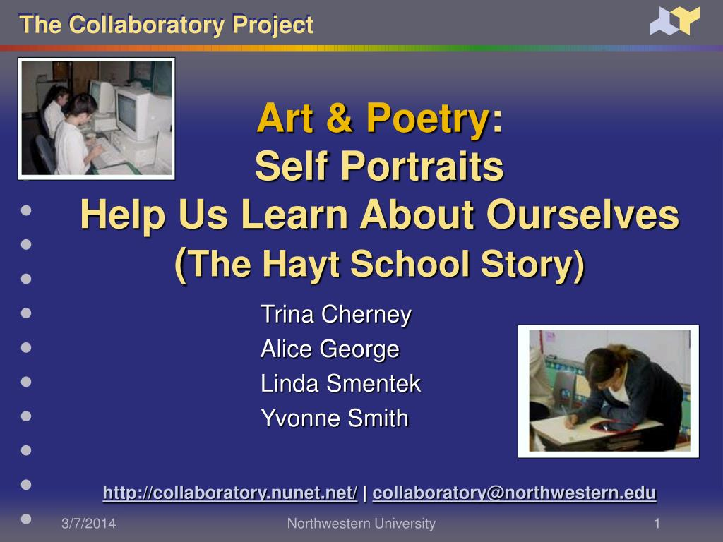 art poetry self portraits help us learn about ourselves the hayt school story l.