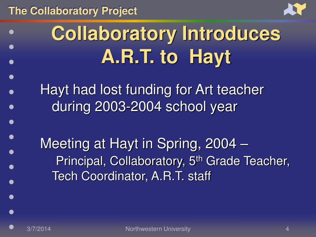 Collaboratory Introduces A.R.T. to  Hayt