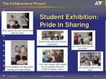 student exhibition pride in sharing