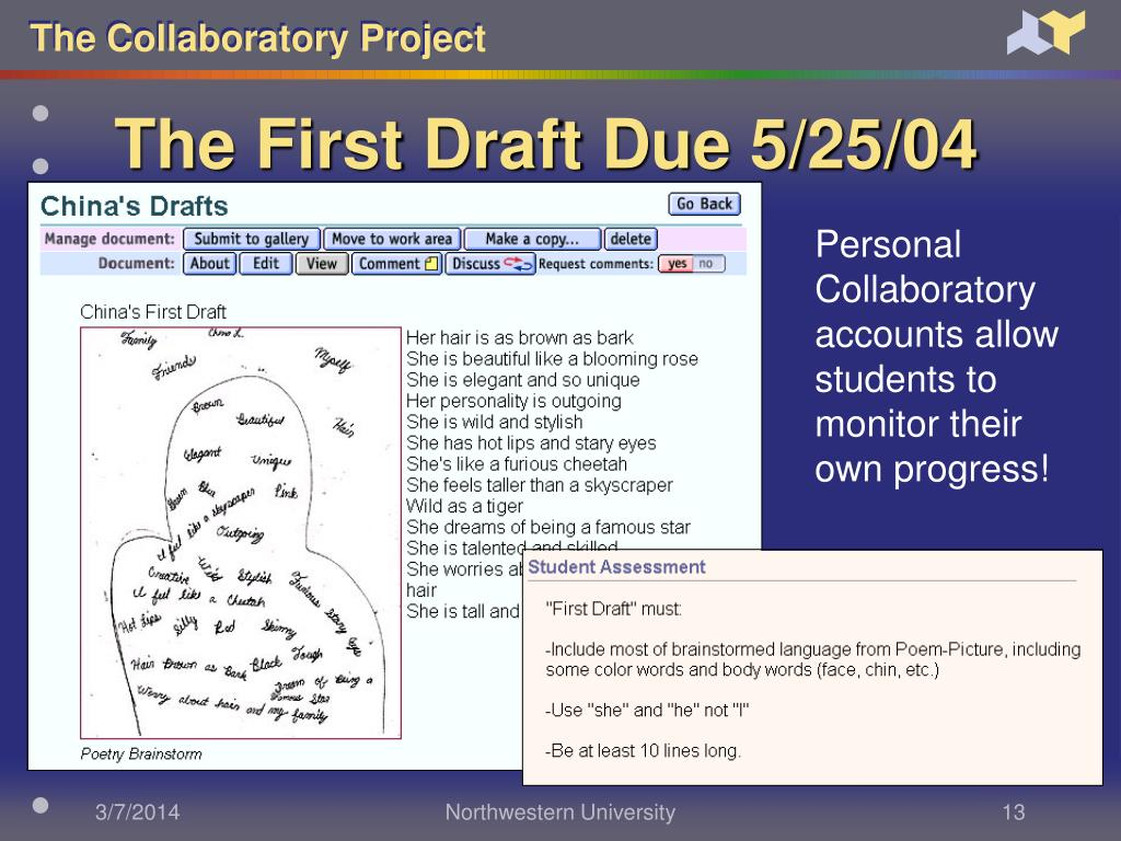 The First Draft Due 5/25/04