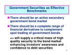 government securities as effective benchmarks17