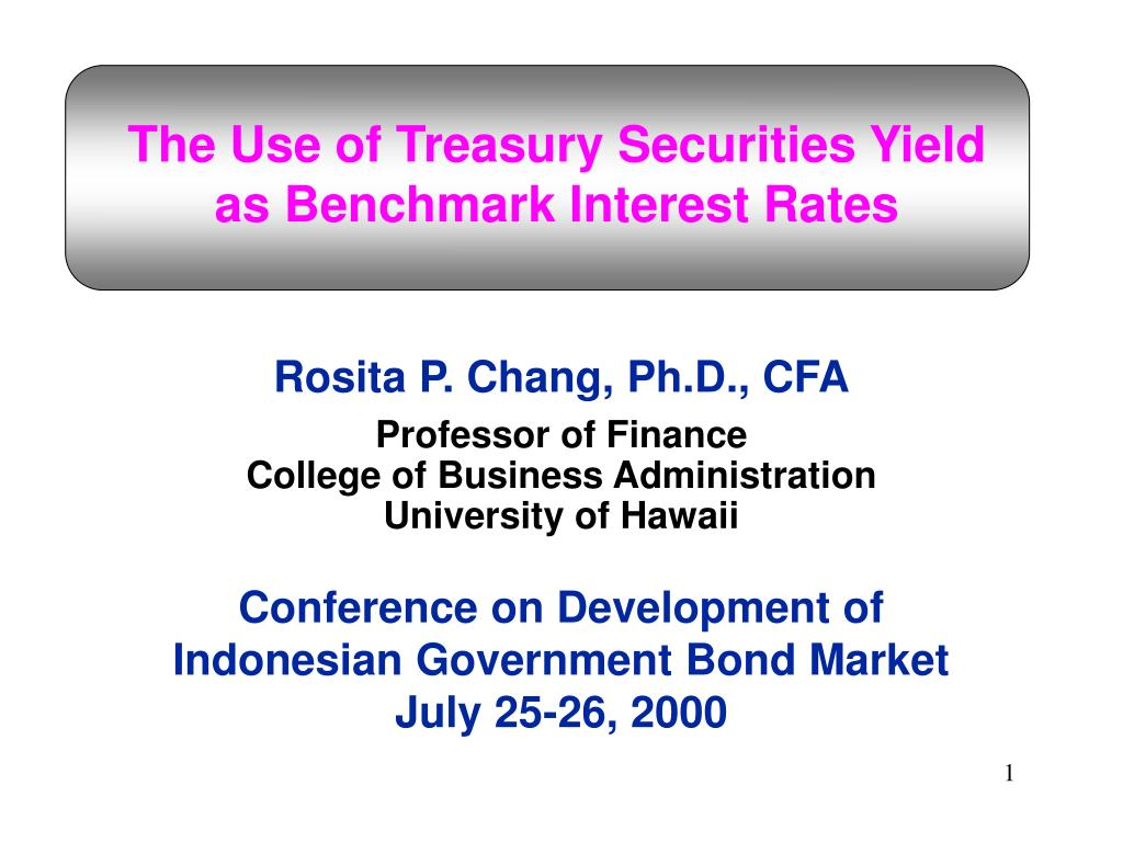 the use of treasury securities yield as benchmark interest rates l.