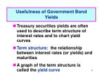 usefulness of government bond yields