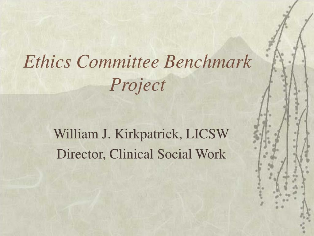 ethics committee benchmark project l.