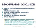 benchmarking conclusion