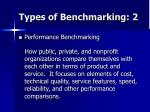 types of benchmarking 2