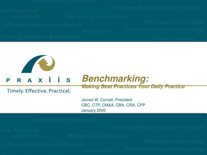benchmarking making best practices your daily practice n.