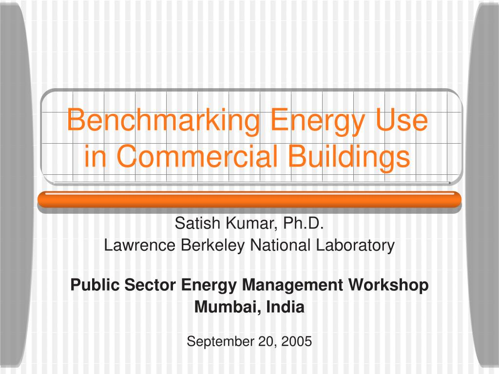 benchmarking energy use in commercial buildings l.