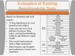 evaluation of existing benchmarking tools