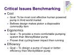 critical issues benchmarking