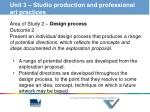 unit 3 studio production and professional art practices1