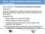 unit 3 studio production and professional art practices2