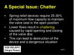 a special issue chatter