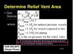 determine relief vent area37