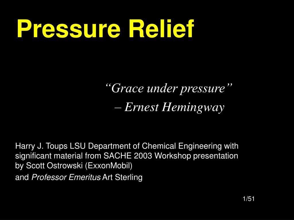 pressure relief l.