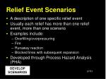 relief event scenarios