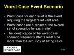 worst case event scenario