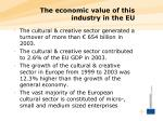 the economic value of this industry in the eu
