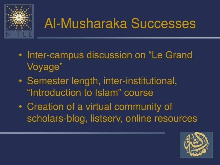 Al-Musharaka Successes