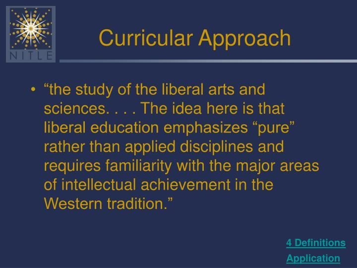 Curricular Approach