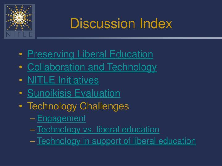 Discussion Index