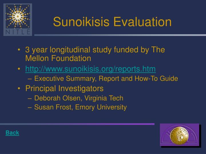 Sunoikisis Evaluation
