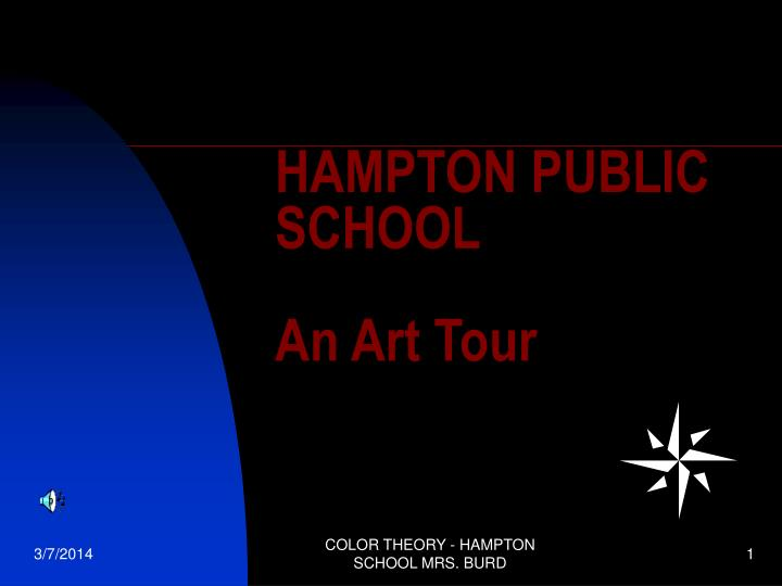 Hampton public school an art tour