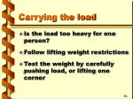 carrying the load14