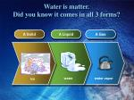 water is matter did you know it comes in all 3 forms