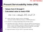 present serviceability index psi