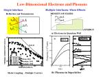 low dimensional electrons and phonons