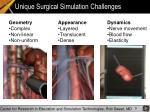 unique surgical simulation challenges