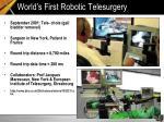 world s first robotic telesurgery