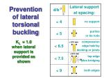prevention of lateral torsional buckling