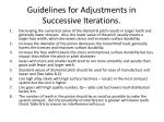 guidelines for adjustments in successive iterations