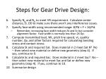 steps for gear drive design5