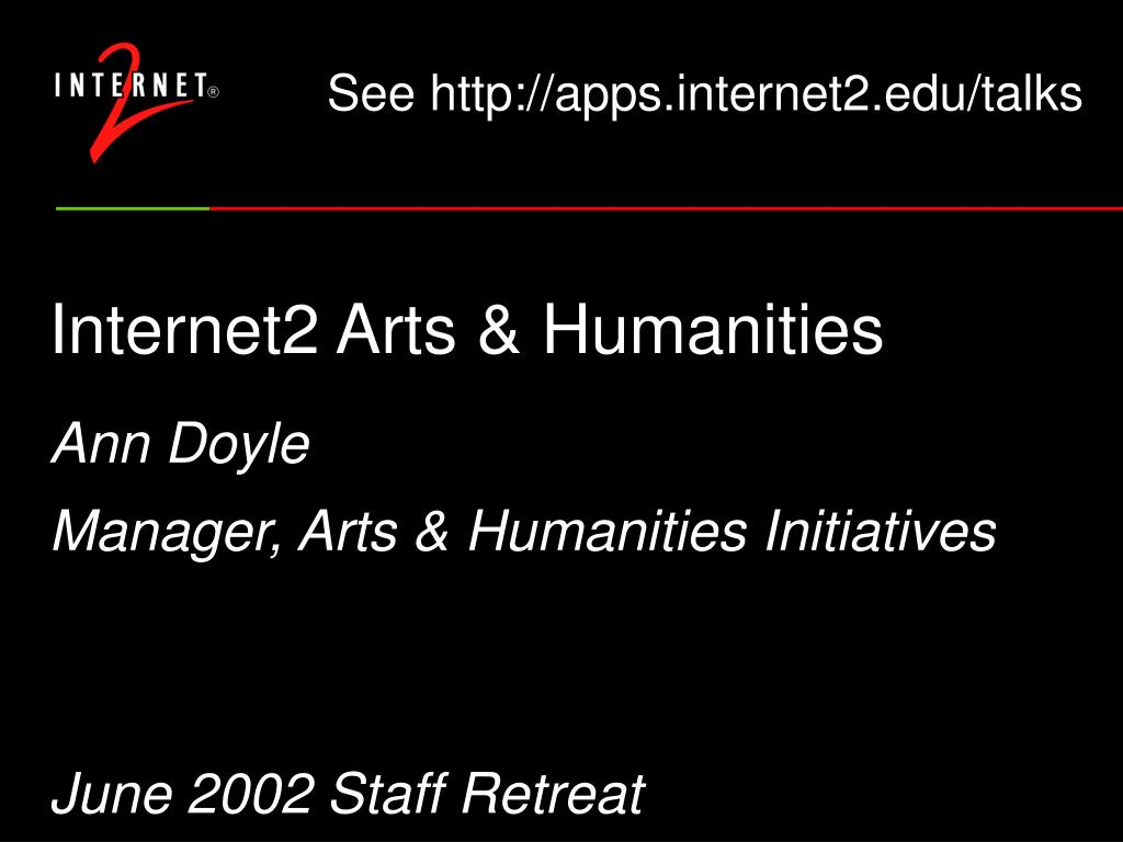 internet2 arts humanities l.