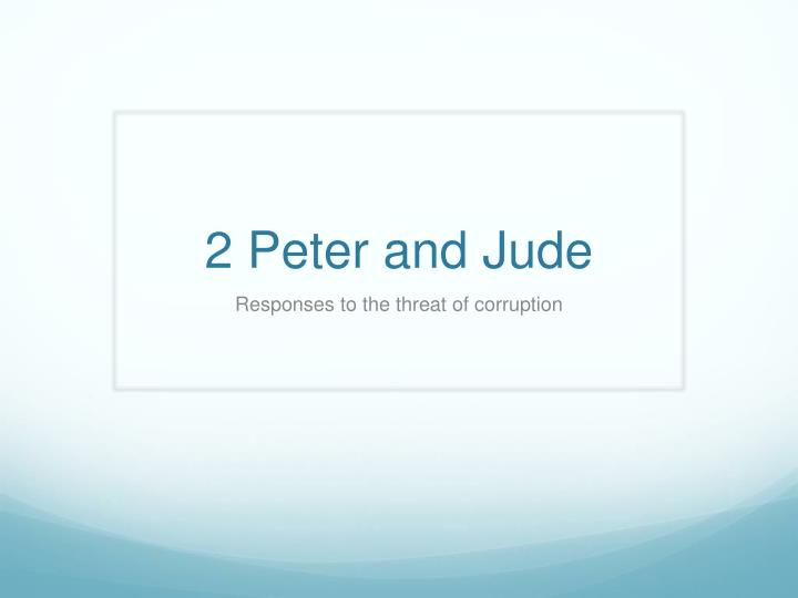 2 peter and jude n.