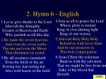 2 hymn 6 english