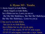 6 hymn 303 yoruba