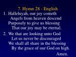 7 hymn 28 english