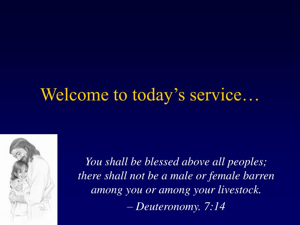 welcome to today s service l.