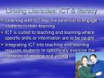 linking literacies ict literacy