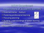 nsw department expectations of academic partners