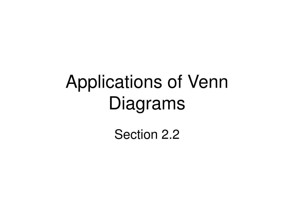applications of venn diagrams l.