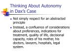 thinking about autonomy in dax s case