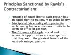 principles sanctioned by rawls s contractarianism